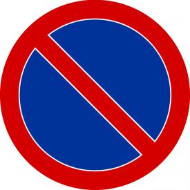 B-35 Zakaz postoju - znak drogowy zakazu