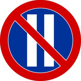 B-38 Zakaz postoju w dni parzyste - znak drogowy zakazu
