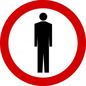 B-41 Zakaz ruchu pieszych - znak drogowy zakazu