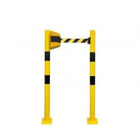 Słupki stałe z taśmą żółto-czarną BHP