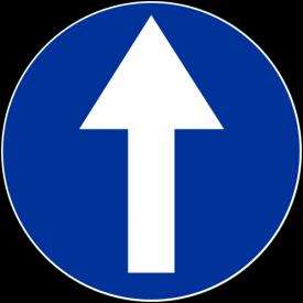C-5 Nakaz jazdy prosto - znak drogowy nakazu