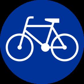 C-13 Droga dla rowerów - znak drogowy nakazu
