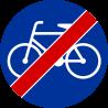 C-13a Koniec drogi dla rowerów - znak drogowy nakazu