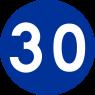C-14 Prędkość minimalna - znak drogowy nakazu