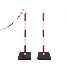 Słupki odgradzające biało-czerwone wys. 105 cm