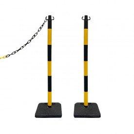 Słupki odgradzające żółto-czarne wys. 105 cm