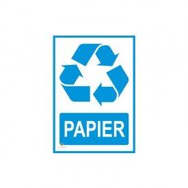Tabliczka segregacja odpadów PAPIER