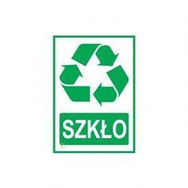 Tabliczka segregacja odpadów SZKŁO