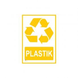 Tabliczka segregacja odpadów PLASTIK