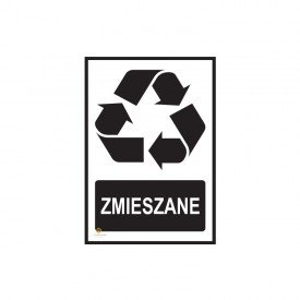 Tabliczka segregacja odpadów ZMIESZANE
