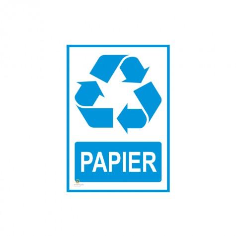 Naklejka segregacja odpadów PAPIER