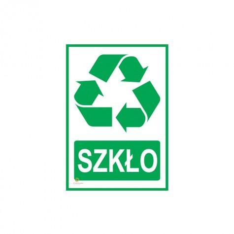 Naklejka segregacja odpadów SZKŁO