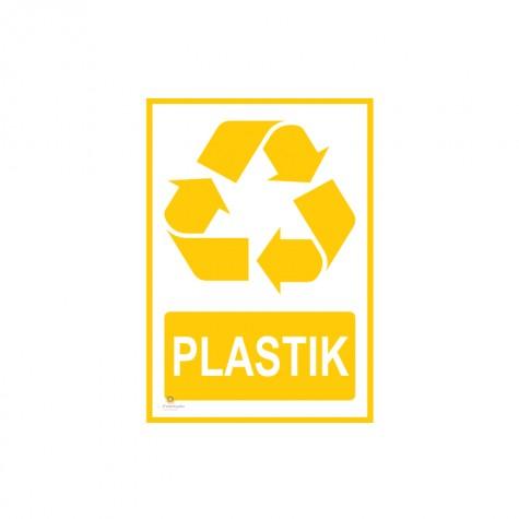 Naklejka segregacja odpadów PLASTIK