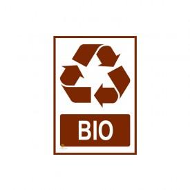 Naklejka segregacja odpadów BIO