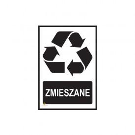 Naklejka segregacja odpadów ZMIESZANE