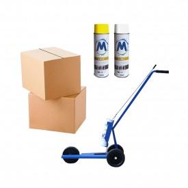 Zestaw 24x Farba M-Markers + Maszyna do malowania pasów