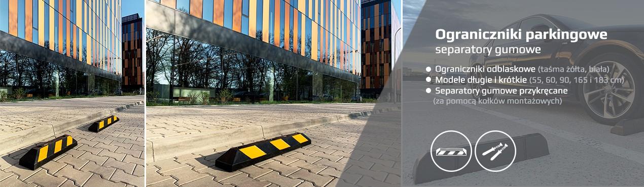 Ograniczniki parkingowe - separatory gumowe